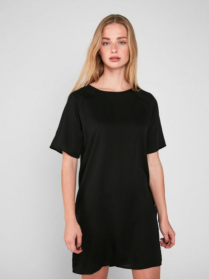 Pieces Midi met korte mouwen jurk zwart