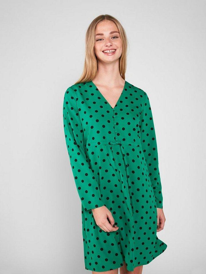 Pieces Lange mouwen jurk groen