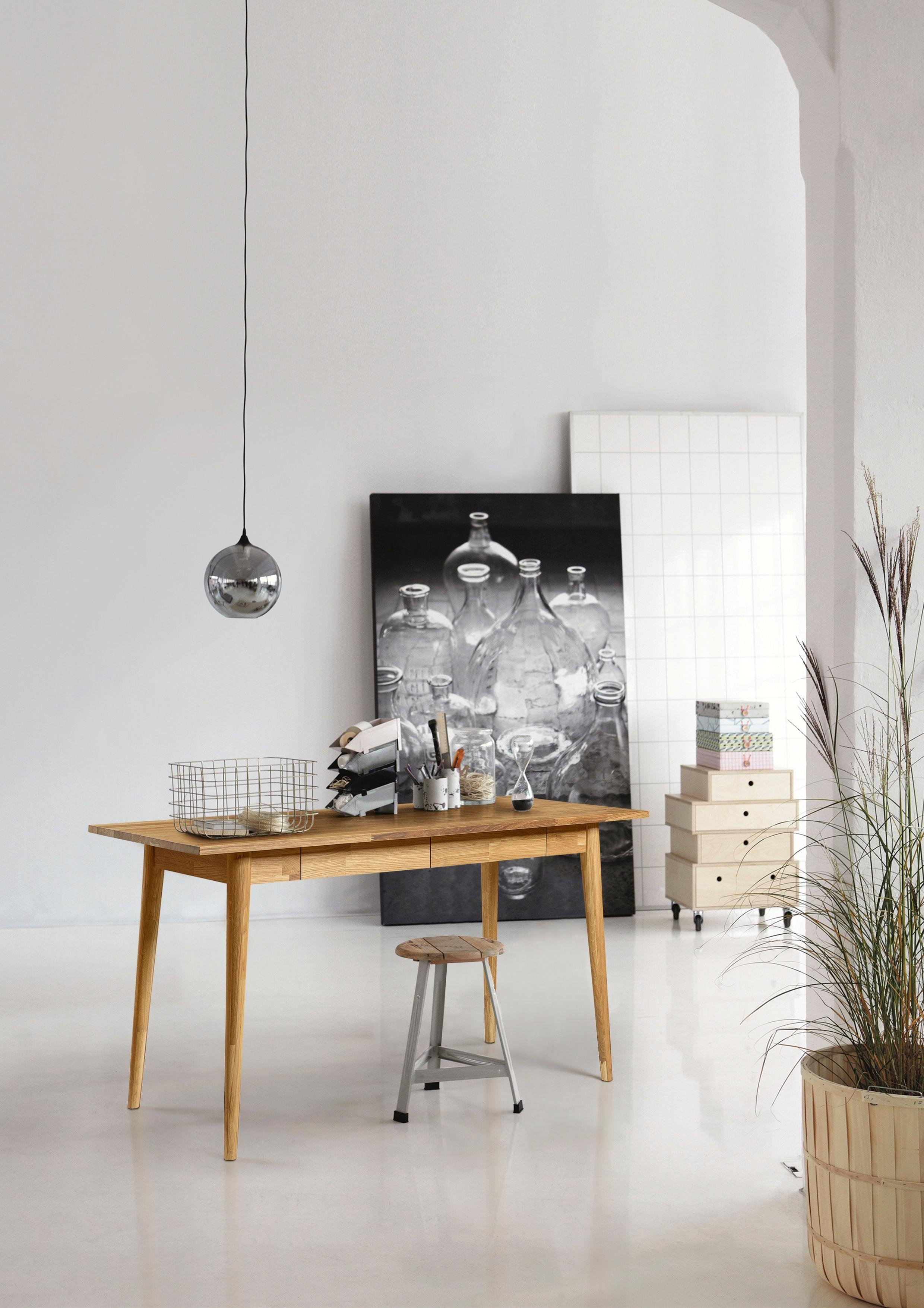 Home affaire Bureau Scandi van mooi massief eikenhout, breedte 140 cm goedkoop op otto.nl kopen