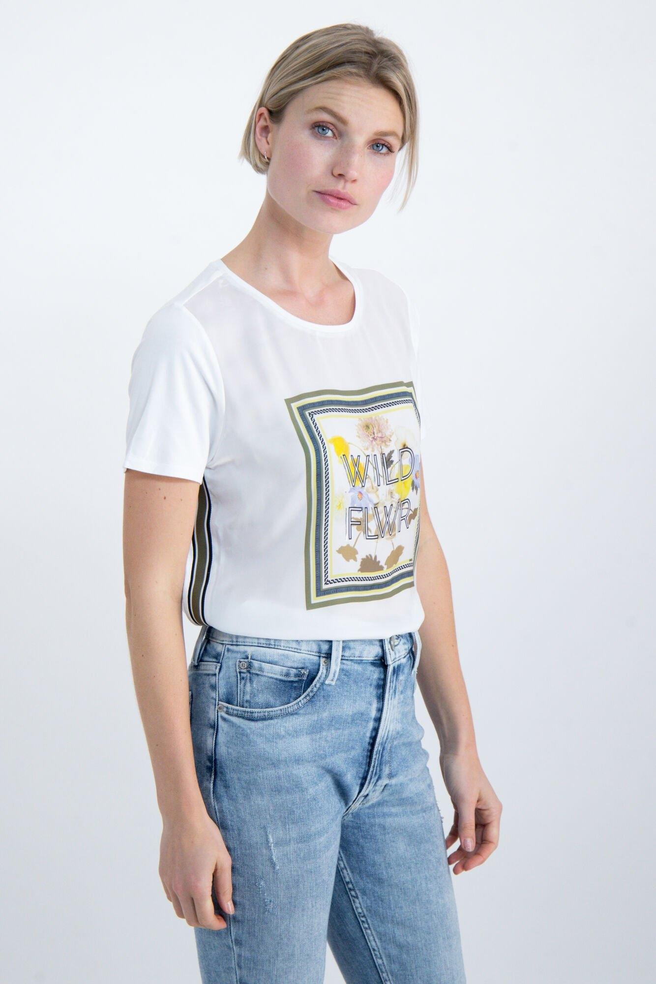 Garcia T-shirt met voorkant van satijn in de webshop van OTTO kopen