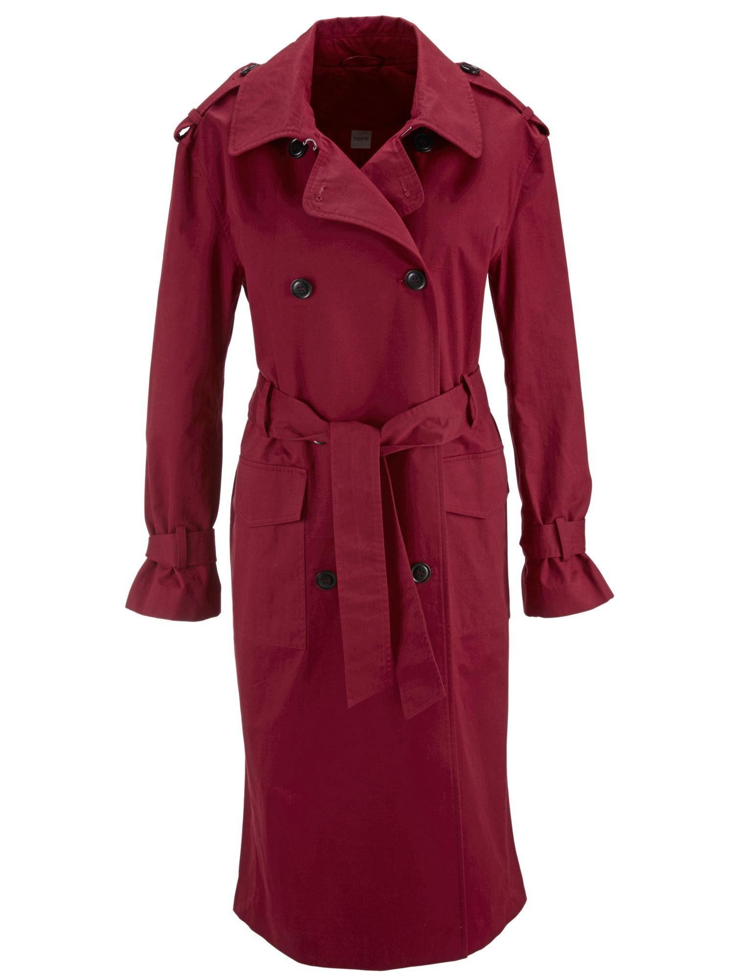 dames winterjas trenchcoat