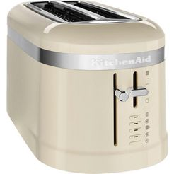kitchenaid toaster »5kmt5115eac«, voor 4 plakken brood, 1600 w beige