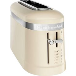 kitchenaid toaster »5kmt3115eac«, voor 2 plakken brood, 900 w beige