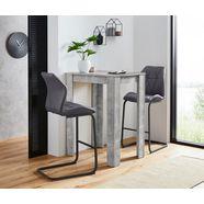 homexperts barmeubels nika-indira tafel met 2 barkrukken grijs