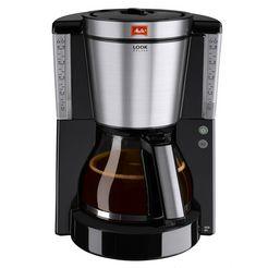 melitta filterkoffieapparaat melitta look deluxe 1011-06, filterkoffieapparaat met glazen kan zwart