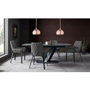 places of style stoel lome set van 2 (set, 2 stuks) grijs