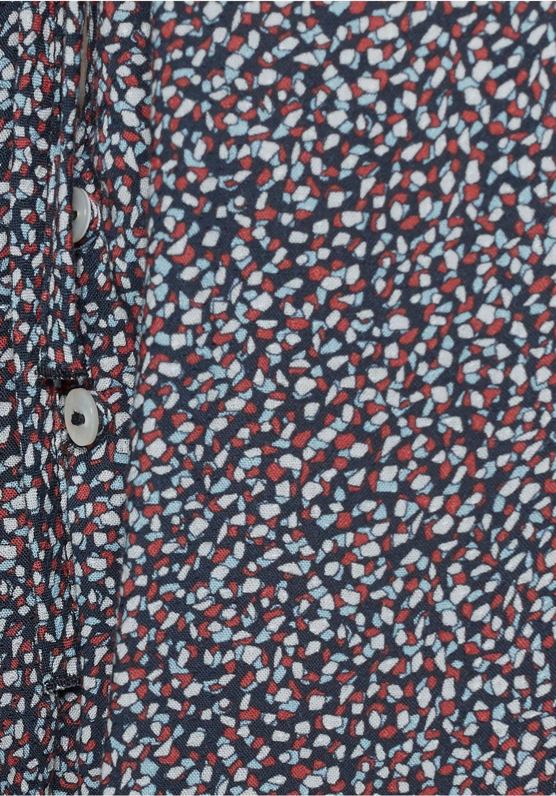 Mavi Gedessineerde Blouse Online Shop Blauw/lichtblauw/rood/wit 1RhWWv5y