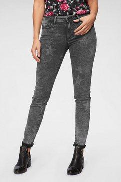 jacqueline de yong skinny fit jeans »evita« grijs
