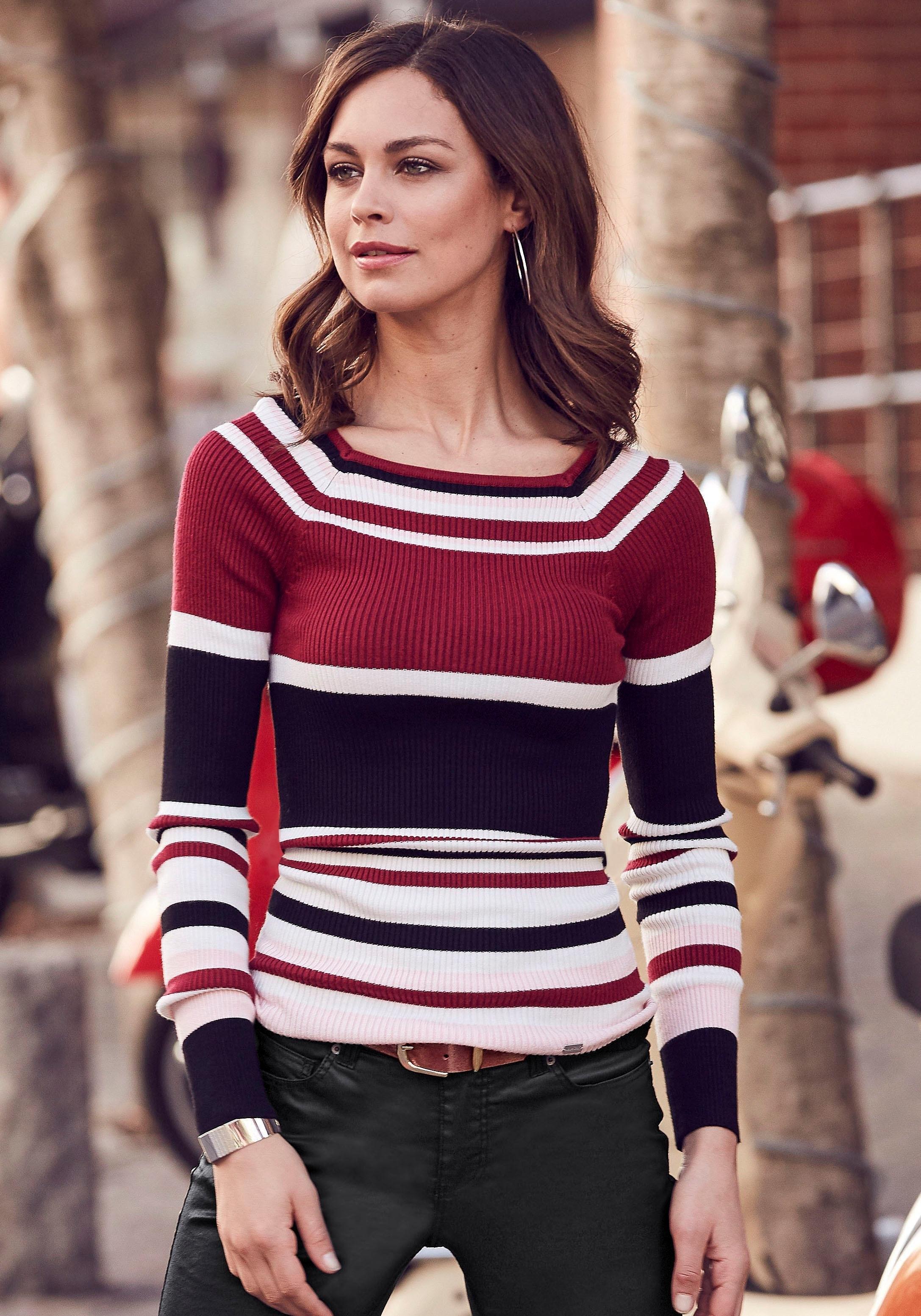 Laura Scott gestreepte trui »in geribde zachte kwaliteit« goedkoop op otto.nl kopen