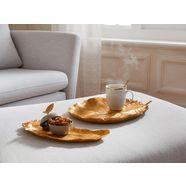 guido maria kretschmer homeliving decoratief dienblad veer met antiek-finish goud