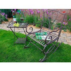 home affaire schommelstoel geschikt voor buiten bruin