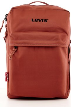 levi's rugzak levi's l pack standard issue - wordmark logo rood