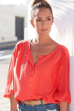 lascana blouse met lange mouwen in oversized model rood