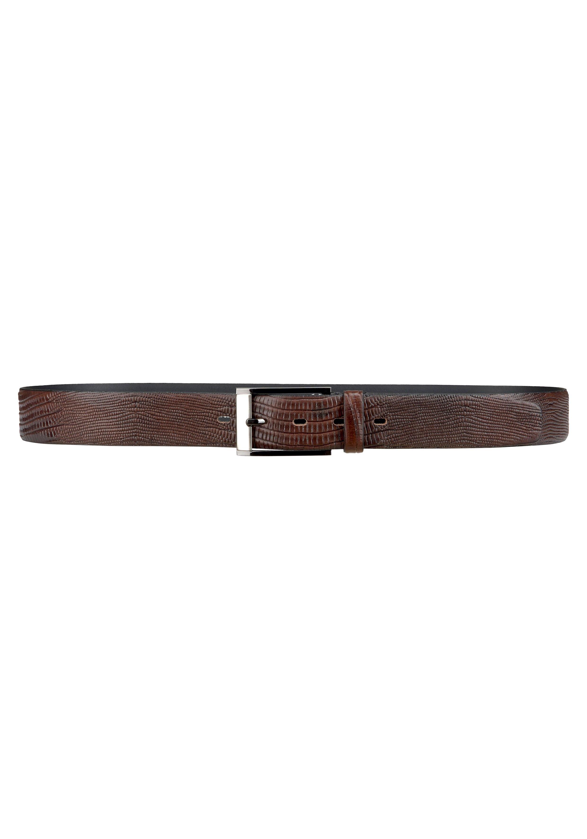 bovino BELTS leren riem Volrundleer ca. 3,5 cm breed, elegante pingesp nu online kopen bij OTTO