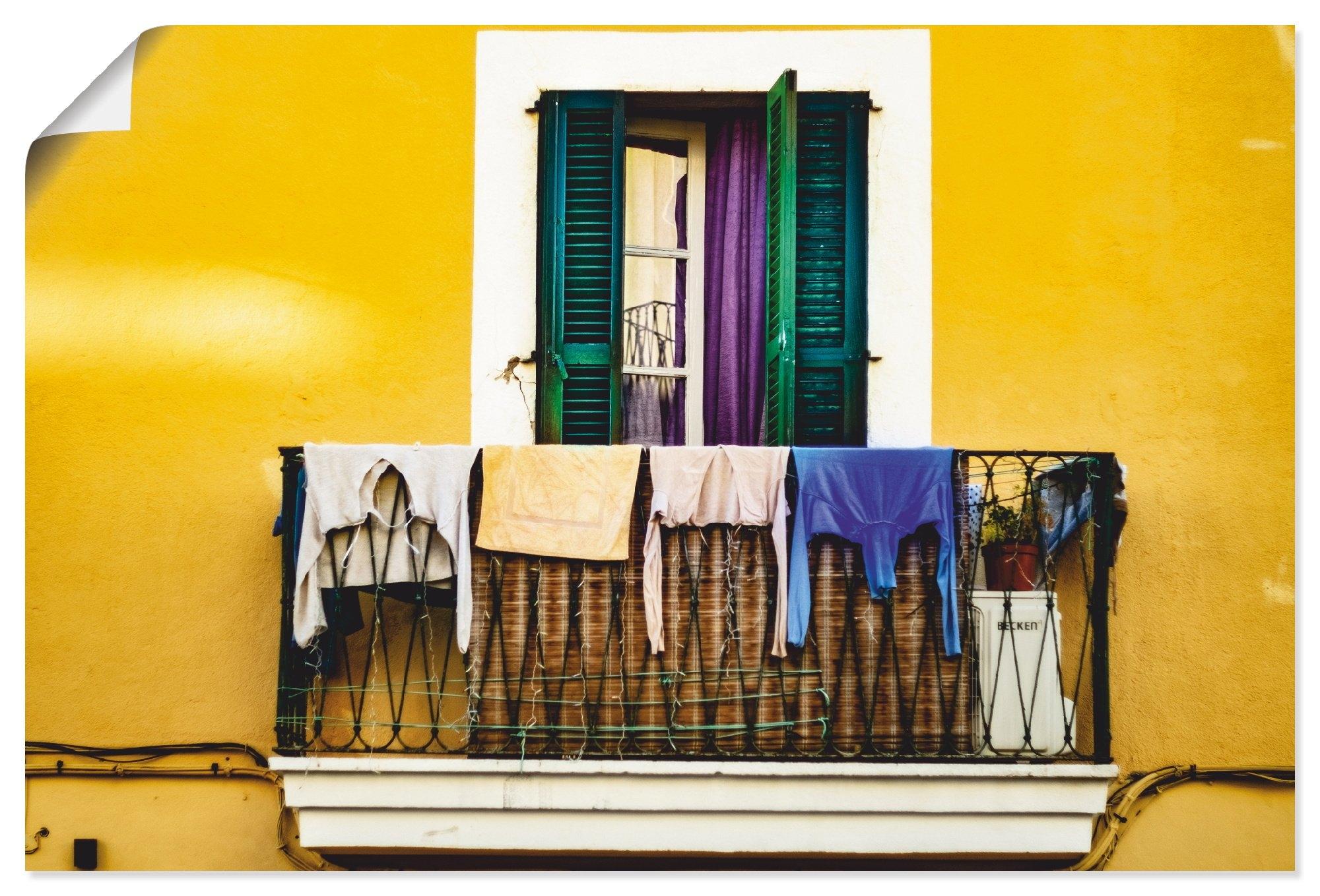 Artland artprint Oude binnenstad woning in vele afmetingen & productsoorten - artprint van aluminium / artprint voor buiten, artprint op linnen, poster, muursticker / wandfolie ook geschikt voor de badkamer (1 stuk) bestellen: 30 dagen bedenktijd