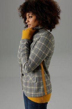 aniston selected jasje met gekleurde tapes in de zijnaden - nieuwe collectie grijs