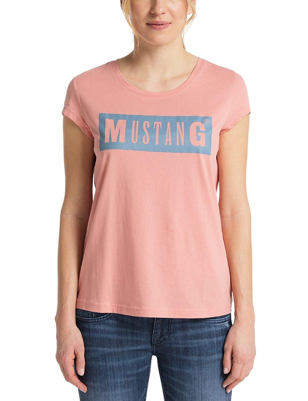 MUSTANG T-shirt Alina C Logo Tee Korte mouwen nu online kopen bij OTTO