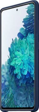 samsung smartphone-hoes silicone cover ef-pg780 voor galaxy s20 fe blauw