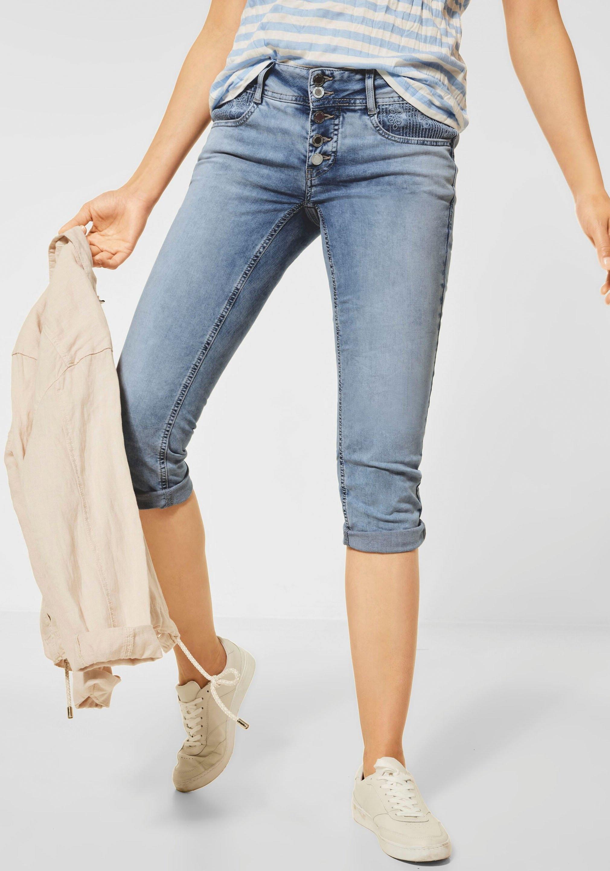 STREET ONE 3/4 jeans Crissi met borduursel bij de zakken online kopen op otto.nl