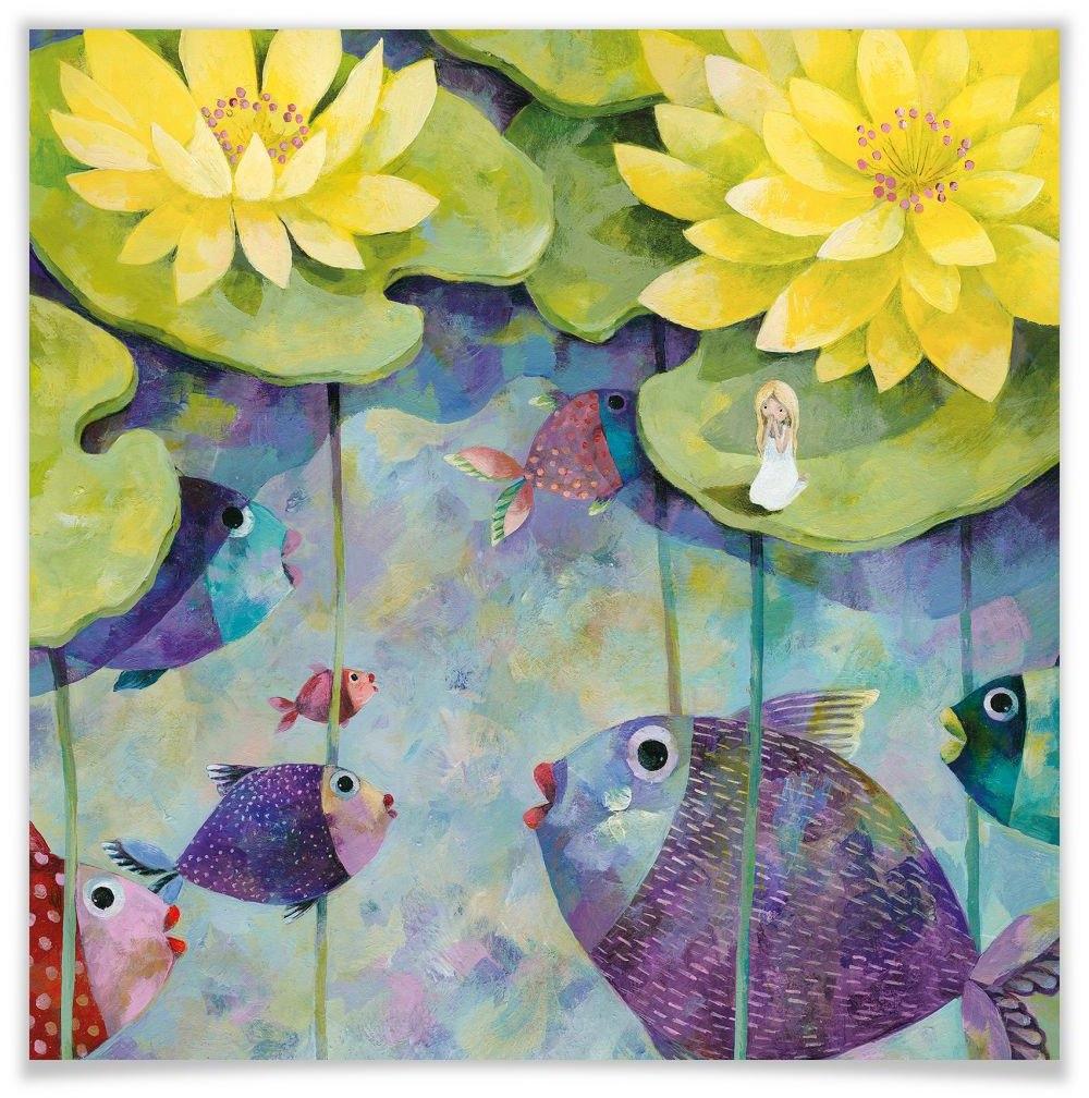 Wall-Art poster Sprookje artprints lotus rozen Poster, artprint, wandposter (1 stuk) nu online bestellen