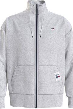 tommy jeans sweatvest tjm solid track jacket grijs