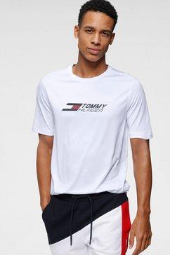 tommy sport trainingsshirt »essentials training tee« wit