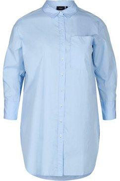 zizzi lange blouse blauw
