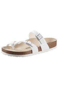 birkenstock slippers mayari met verstelbare gespriempjes wit