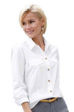 casual looks blouse met contrastkleurige knopen wit