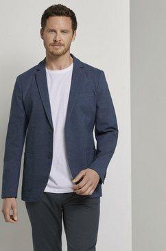 tom tailor colbert fijngestructureerde colbert blauw