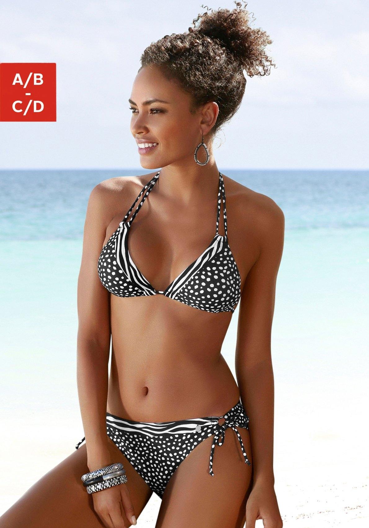 Lascana triangel-bikinitop Safari in de patroonmix voordelig en veilig online kopen
