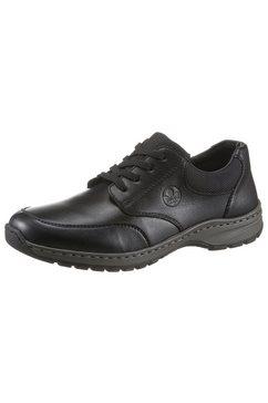 rieker veterschoenen met een praktisch, verwisselbaar voetbed zwart