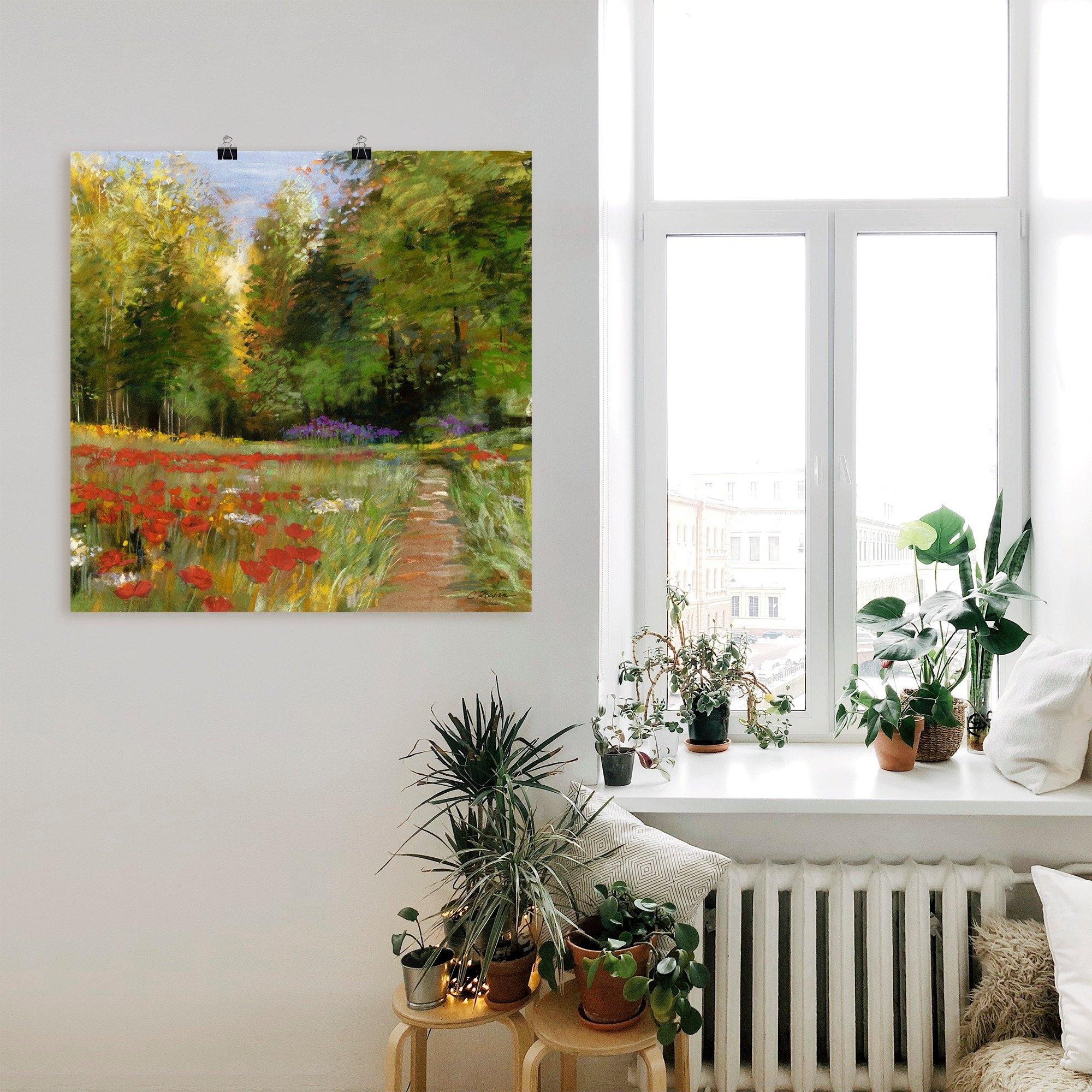 Artland artprint Bloemenveld in vele afmetingen & productsoorten -artprint op linnen, poster, muursticker / wandfolie ook geschikt voor de badkamer (1 stuk) bestellen: 30 dagen bedenktijd