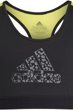 adidas performance sportbustier »girls leo bra« zwart