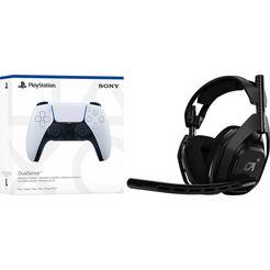 astro gaming-headset a50 inclusief ps5 dualsense wireless-controller zwart