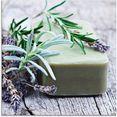 artland print op glas stuk natuurlijke zeep met kruiden (1 stuk) groen