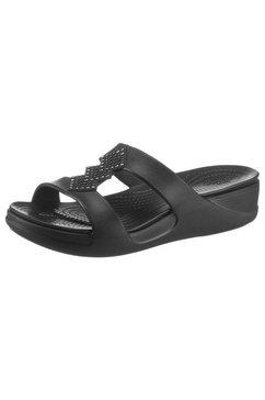 crocs sleehakmuiltjes »monterey shimmer slpon« zwart