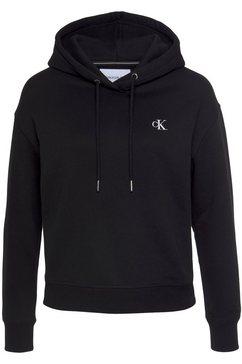 calvin klein hoodie ck embroidery hd met ck monogram borduursel zwart