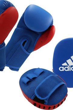 adidas performance slagkussen kids boxing kit 2 (set) blauw