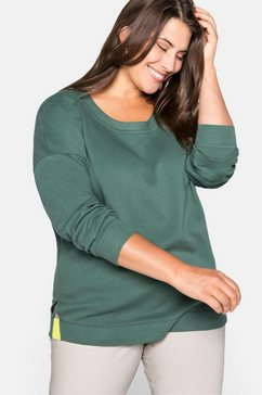 sheego sweatshirt groen