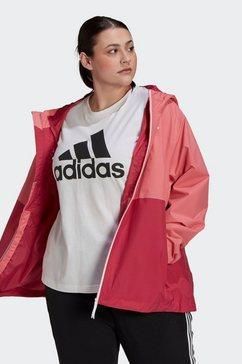 adidas performance regenjack »bsc 3-streifen rain.rdy« roze