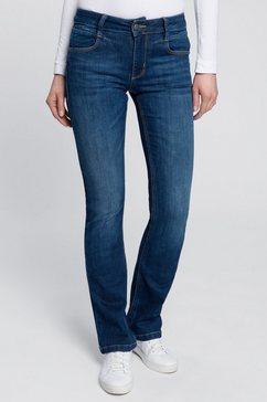 freeman t. porter high-waist jeans betsy met modieuze, uitlopende pijpen blauw