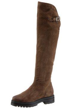 mjus overknee-laarzen doble met siergesp bruin