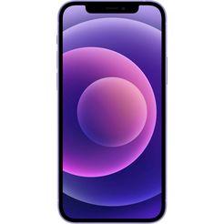 apple smartphone iphone 12, 64 gb, zonder stroom-adapter en hoofdtelefoon, compatibel met airpods, airpods pro, earpods hoofdtelefoon paars