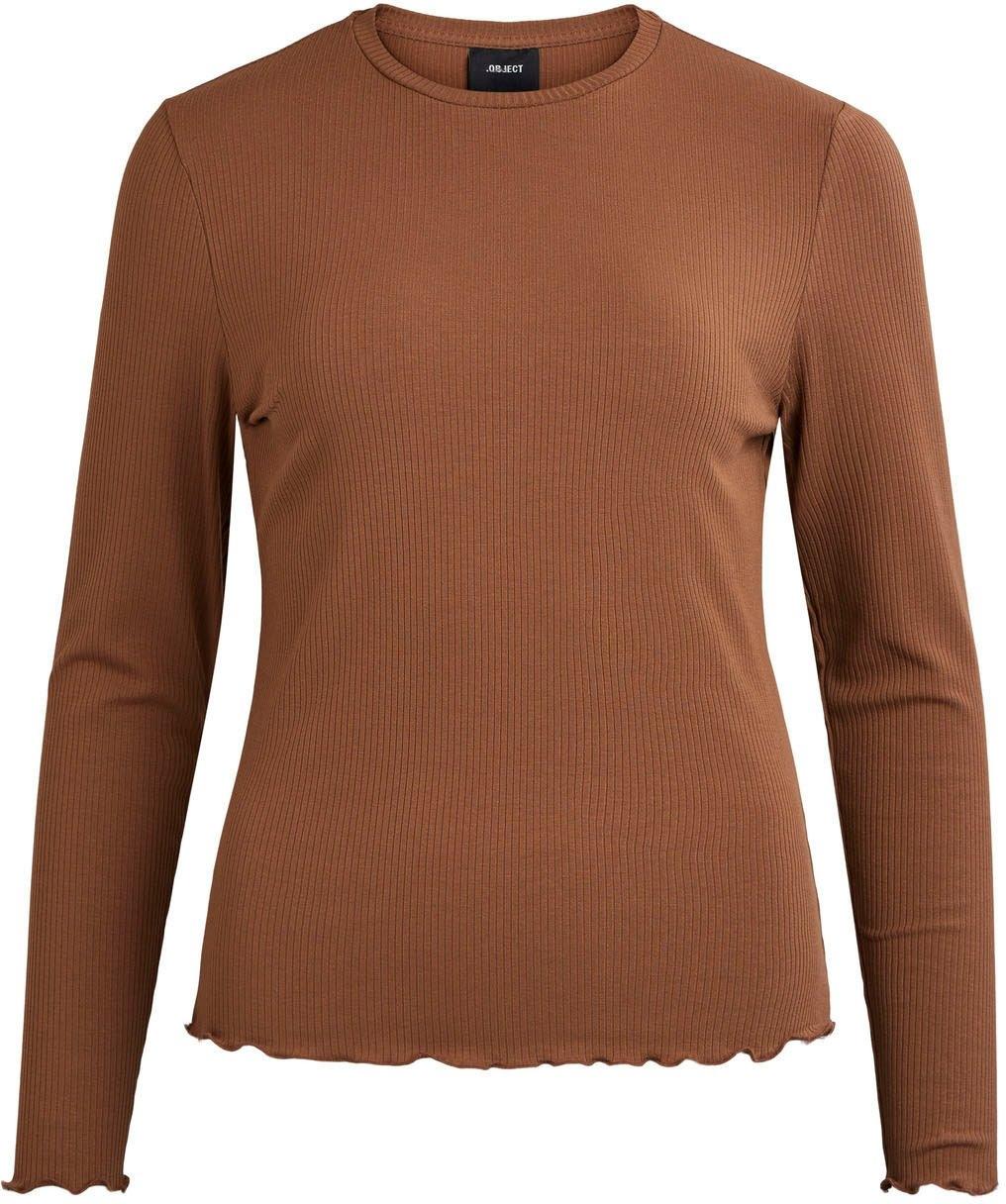 Object shirt met ronde hals met schulprandje bij de zoom en aan de mouwen - verschillende betaalmethodes