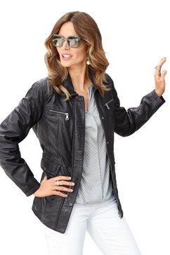 classic inspirationen leren jasje in een lichte used-look zwart