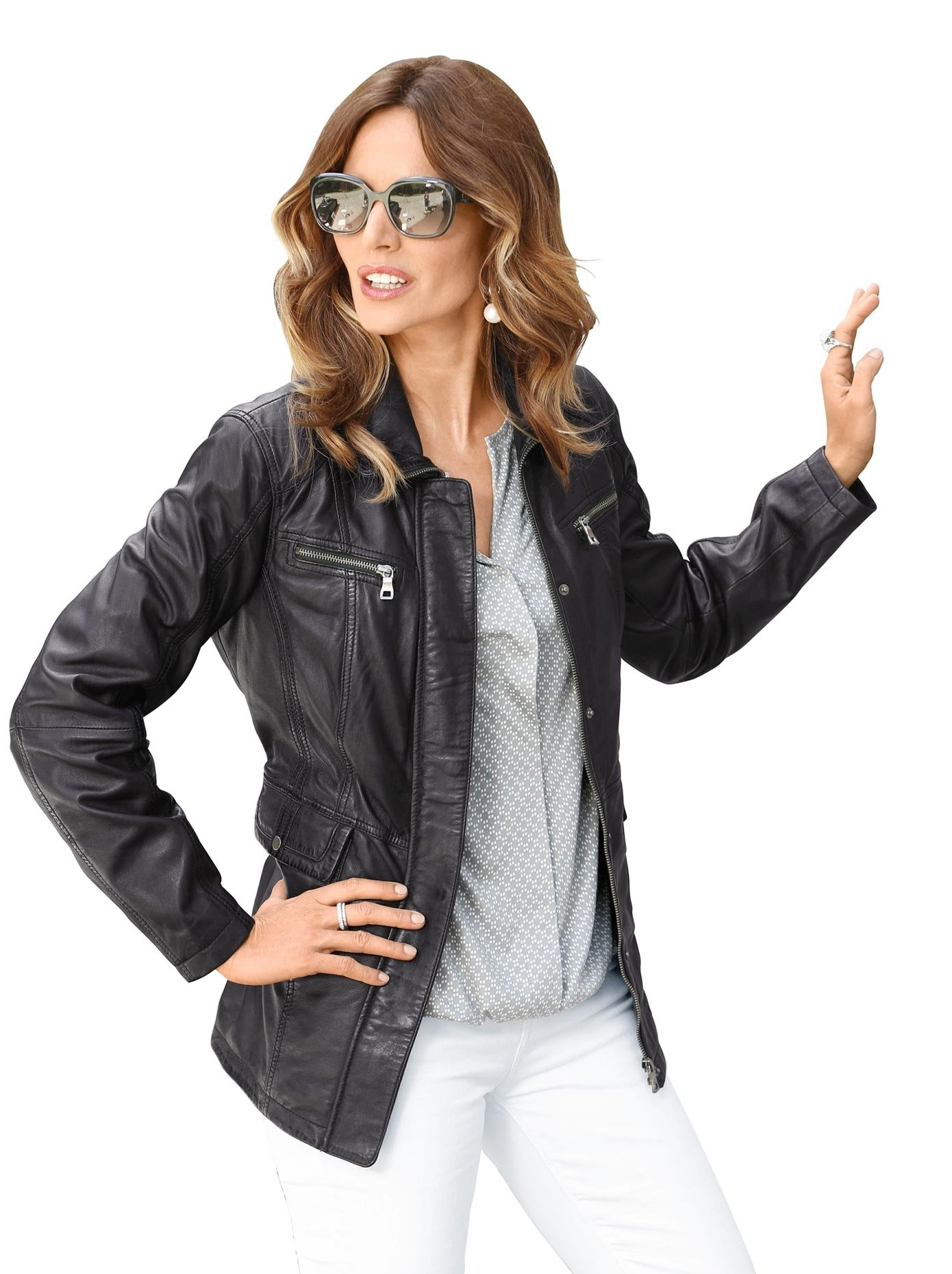 Mainpol Classic Inspirationen leren jasje in een lichte used-look goedkoop op otto.nl kopen