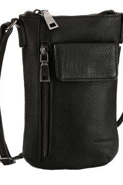 fredsbruder gsm-tasje mobili in een eenvoudige look zwart