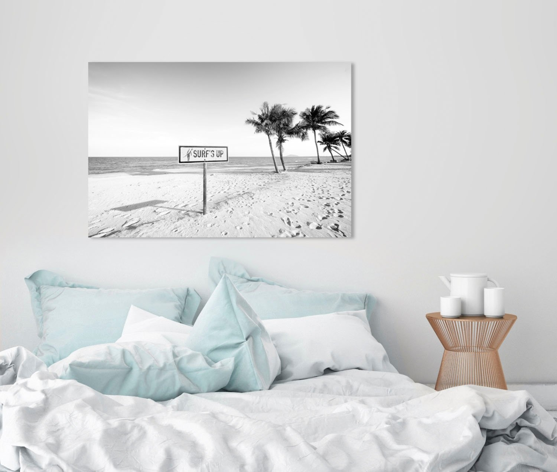 queence artprint op acrylglas Surf's up strand - gratis ruilen op otto.nl