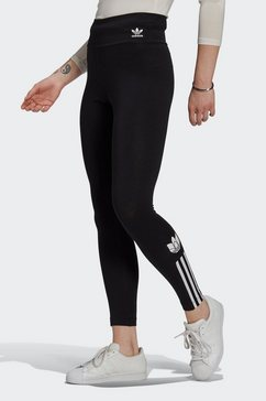adidas originals legging »adicolor 3d trefoil high-waisted« zwart